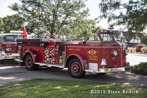 classic antique American LaFrance fire engine