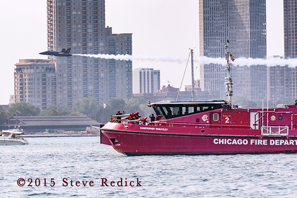 Chicago FD Fire Boat the Christopher Wheatley