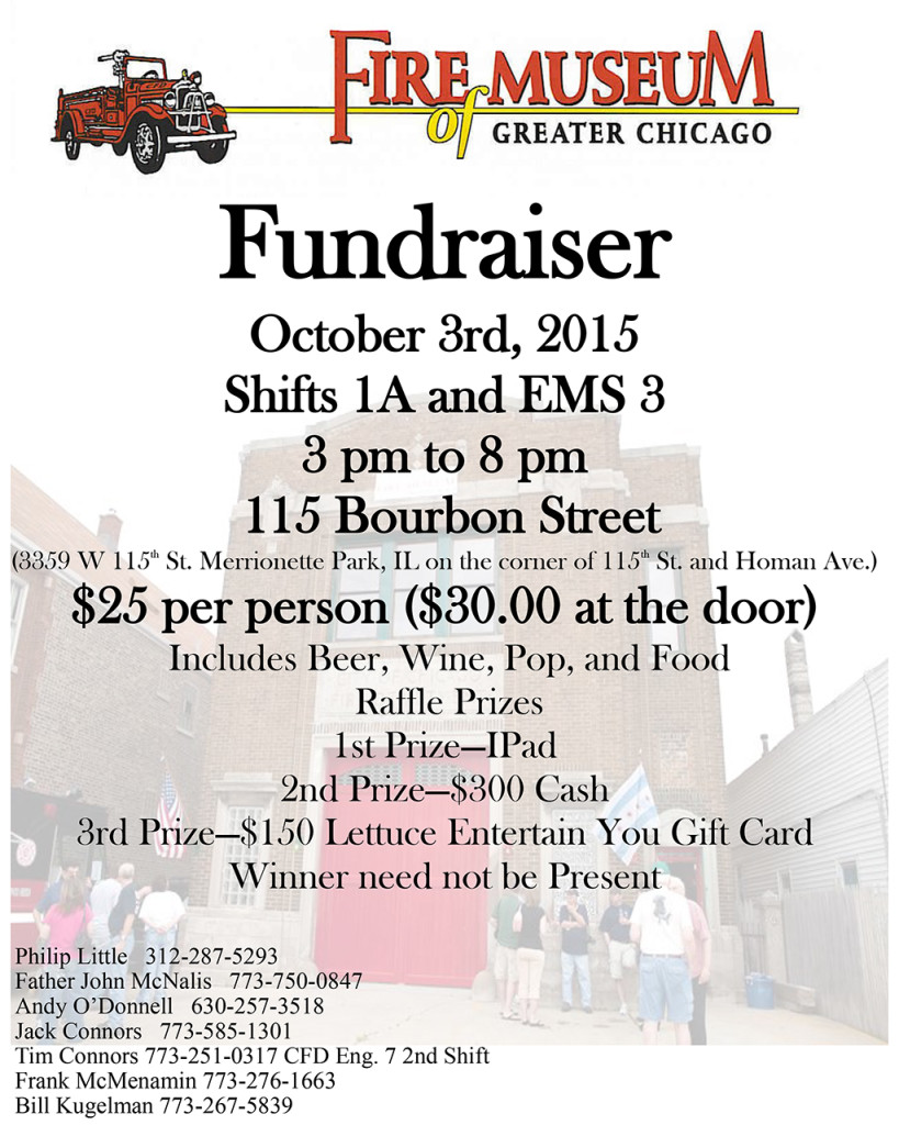 Fundraiser for the Fire Museum of Greater Chicago