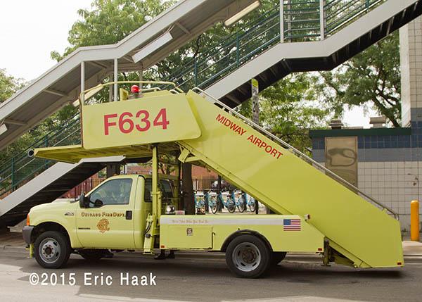 fire department stairway truck