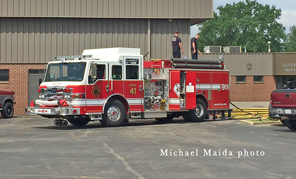 McHenry Township FPD fire engine