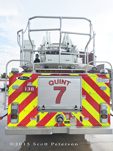 chevron striping on fire truck