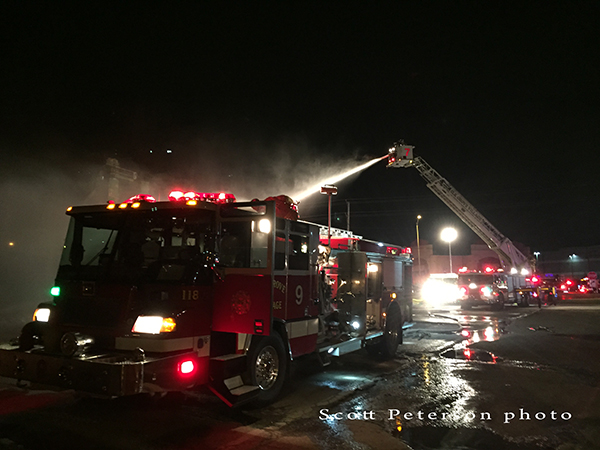 night fire scene photo