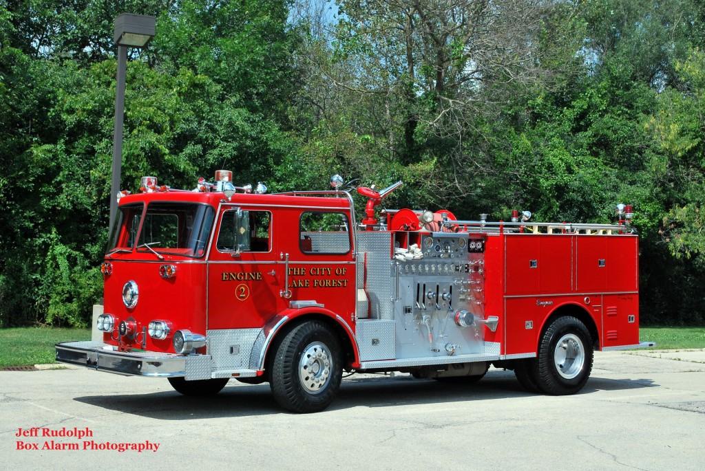 restored 1977 Seagrave fire engine