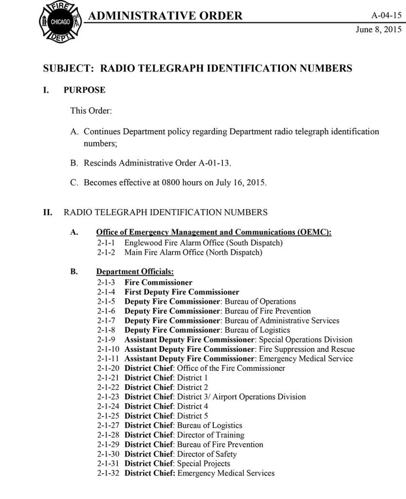 Radio Telegraph Identification Numbers A-04-15-1