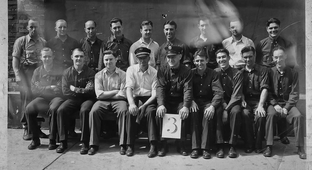 Historic photo of Chicago firemen circa 1930