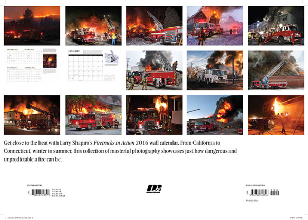 Fire Trucks in Action 2016 Calendar