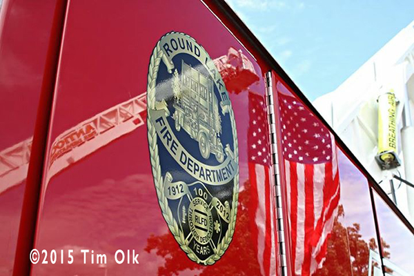 fire truck reflection