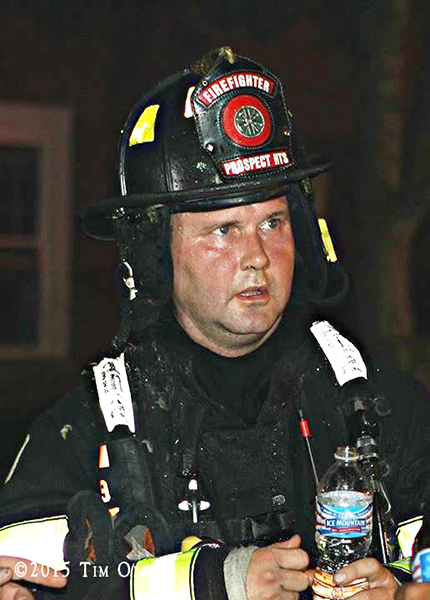 fireman at night