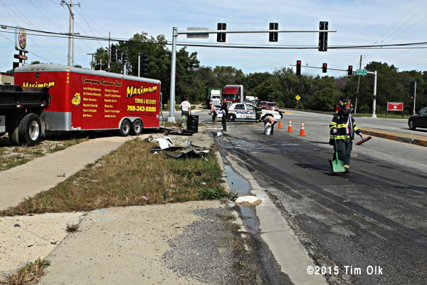 cleanup after truck crash