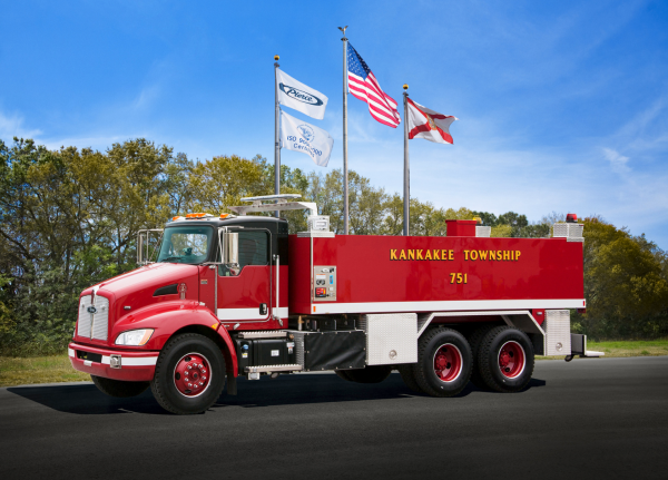 Kenworth Pierce tanker fire truck
