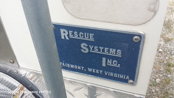 Rescue Systems Inc fire truck emblem