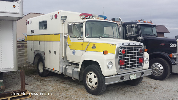 old Ford L series Rescue Systems Inc fire truck