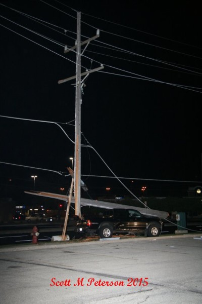 power pole on pickup truck