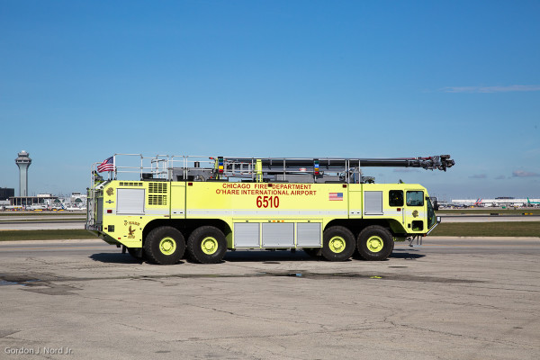 8x8 Oshkosh Striker at O'Hare Airport