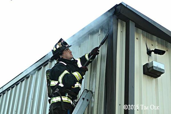 fireman at fire scene
