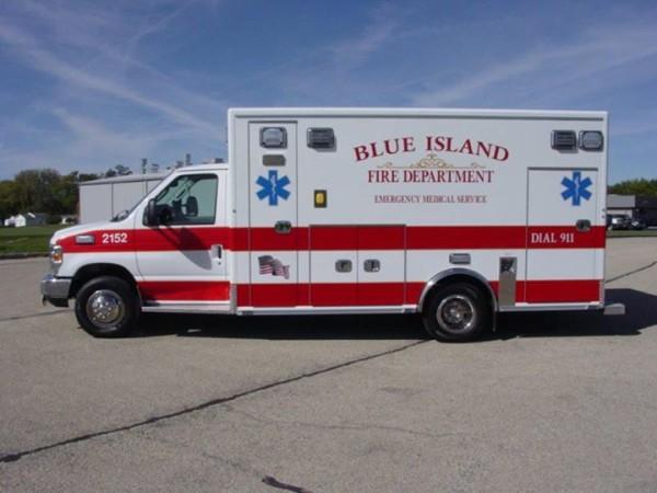 Blue Island FD ambulance