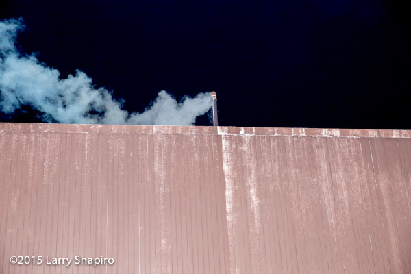smoke from building exhaust