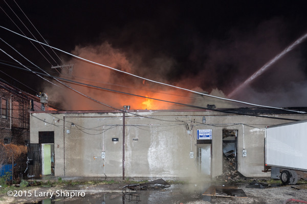 fire through door of commercial building