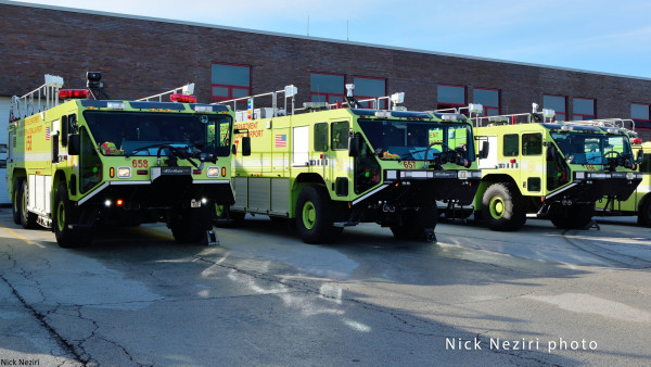 Oshkosh Striker ARFFs at O'Hare Airport