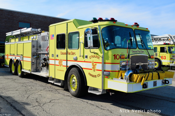E-ONE fire engine at O'Hare Airport