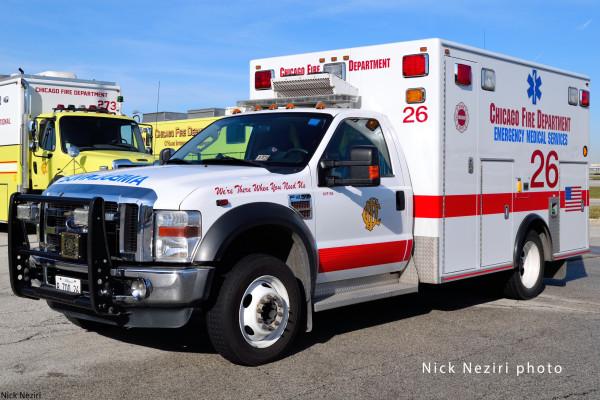 ambulance at O'Hare Airport