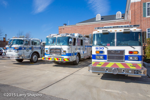 Glencoe Public Safety Department fire engines