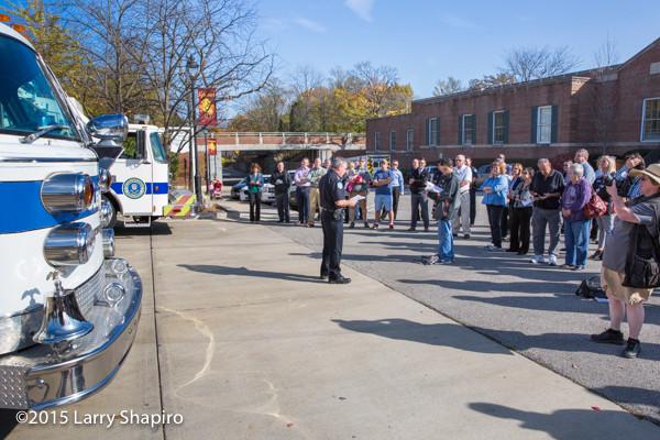 Glencoe Public Safety Department wet-down ceremony