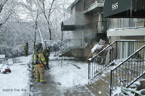 aftermath of apartment fire