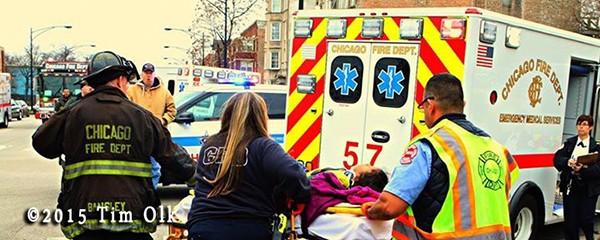 firefighters remove patient after car crash