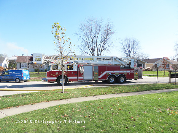 North Aurora FD tower ladder