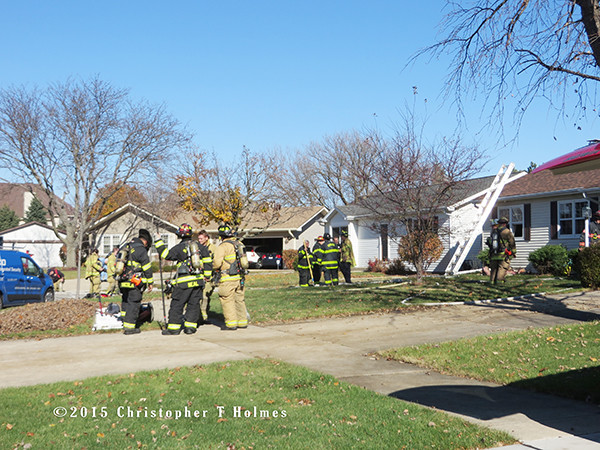 North Aurora fire scene