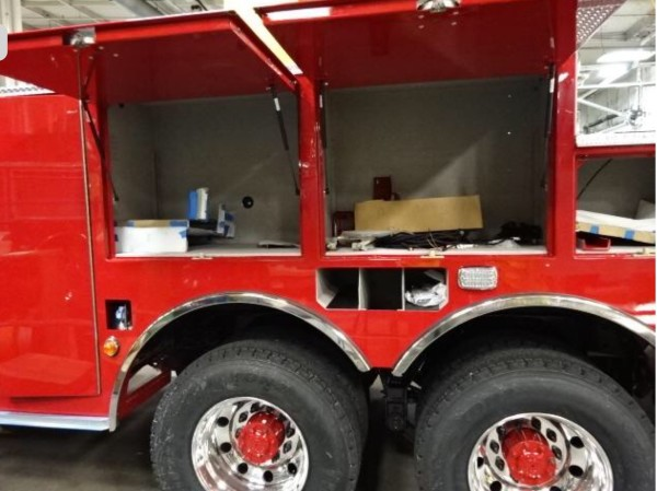fire truck being built