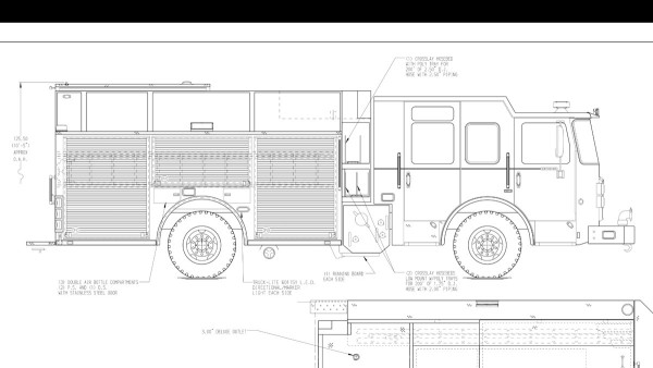 fire engine mechanical drawing