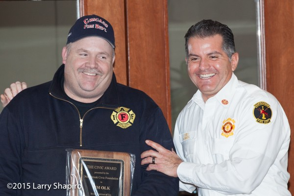 Northbrook Fire Chief Jose Torres and Tim Olk