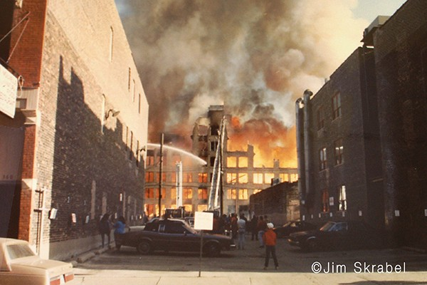 River North Art Gallery Fire