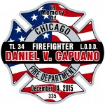 CU-2697 CFD 3 Memorial Decal Danirl V. Capuano US Flag