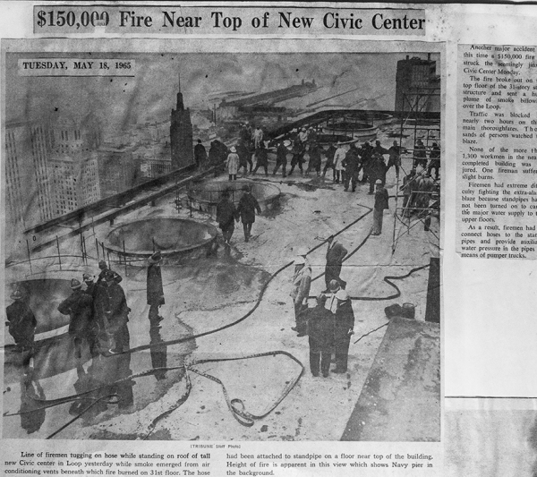 historic fire at Chicago Civic Center