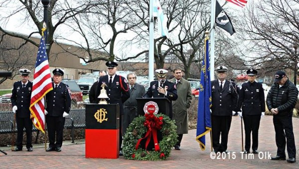 Chicago FD Stokyards Fire Memorial anniversary