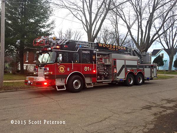Woodstock FPD fire truck
