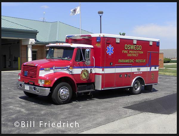 Oswego FPD ambulance