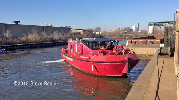 Chicago fire boat the Christopher Wheatley