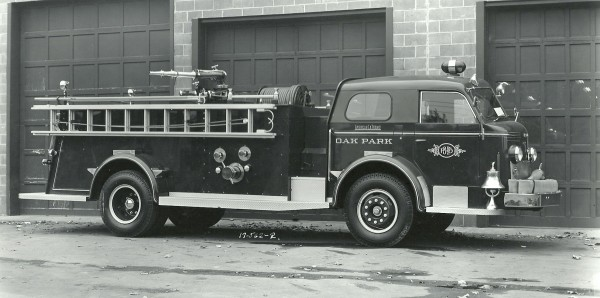 American LaFrance delivery photo Oak Park FD