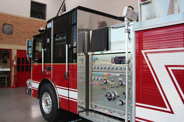 new fire engine for the Glenwood FD