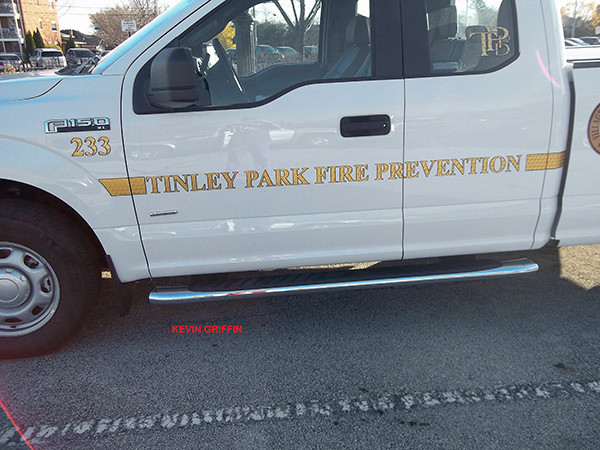 New pickup truck for the Tinley Park FD