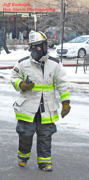 fire chief dressed for frigid weather
