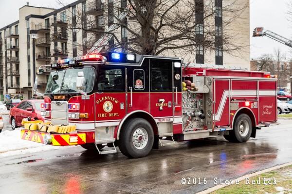 Glenview FD fire engine