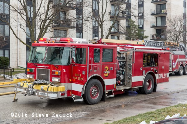 Niles FD fire engine