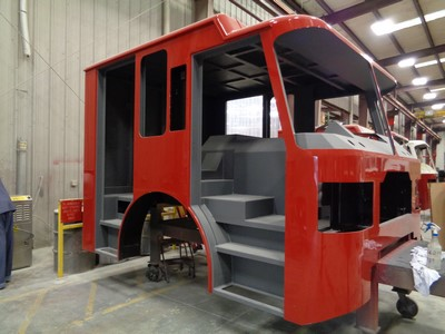 new fire truck being built