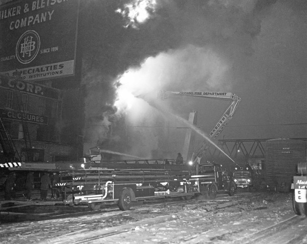 Hubbard Street fire in Chicago